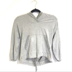 James Perse Inside out cropped hoodie size 2